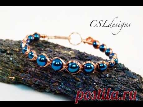 Egyptian style wirework bracelet