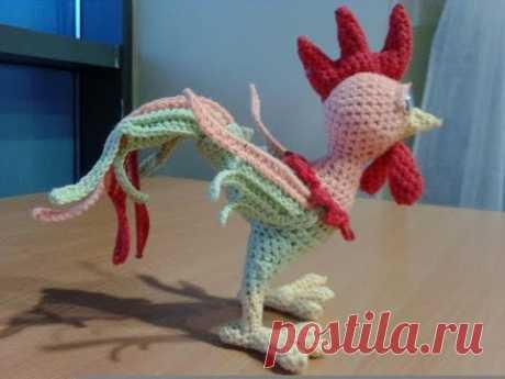 Вязание игрушки петушок-свистулька, ч.1 голова, туловище - YouTube