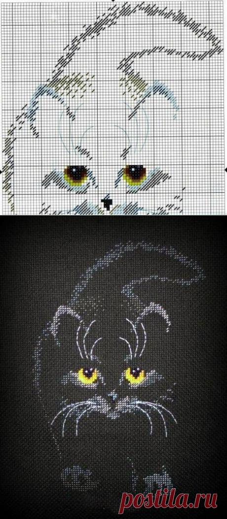 """Письмо «сообщение anngol : Схема вышивки """"Кошка"""" на чёрной канве (08:18 20-03-2020) [4248238/468239846]» — anngol — Яндекс.Почта"""