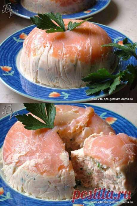 Нежный террин с сёмгой и креветками • Закуски рыбные. Автор: DolceVita