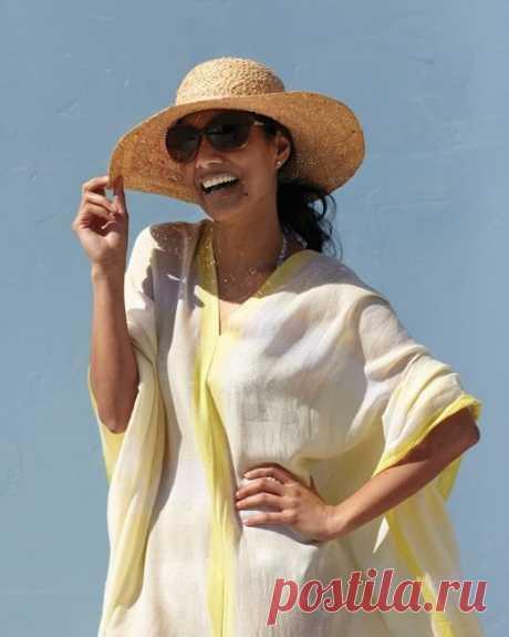 Пончо из двух шарфов Модная одежда и дизайн интерьера своими руками