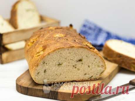 Постный хлеб с запеченным чесноком и зеленым луком — рецепт с фото Очень вкусный и ароматный хлеб отлично подойдет к тарелке супа или борща.