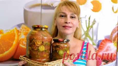 Грузинский салат из огурцов на зиму простой вкусный рецепт заготовки и консервации - Простые рецепты Овкусе.ру