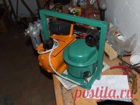El compresor aéreo para la pintura menuda del refrigerador viejo