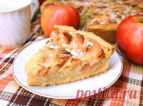 Яблочный пирог со сметанной заливкой очень вкусный | Легкие рецепты