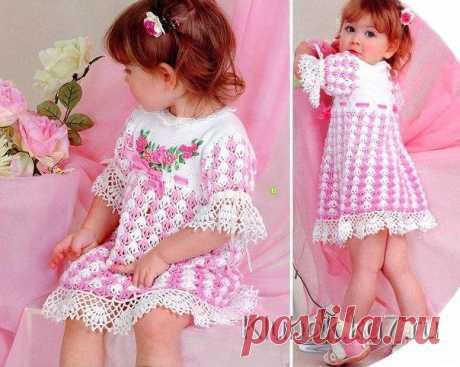 Вязаное платье для маленькой принцессы   Клубок