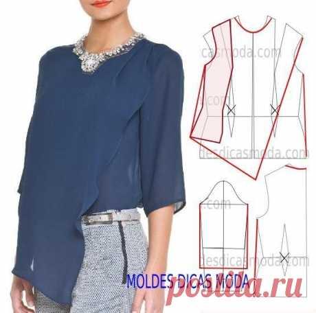 Интересные идеи моделирования оригинальных блузок