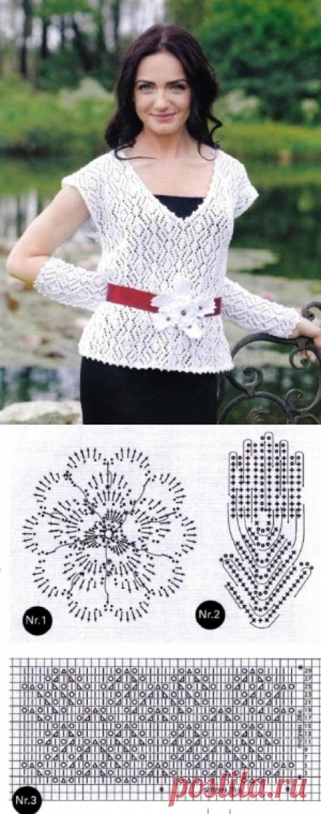 Эффектные блузки спицами - САМОБРАНОЧКА рукодельницам, мастерицам