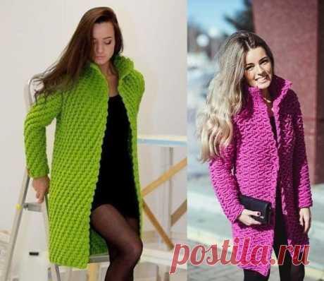 Пальто крючком - осень может быть стильной! из категории Интересные идеи – Вязаные идеи, идеи для вязания