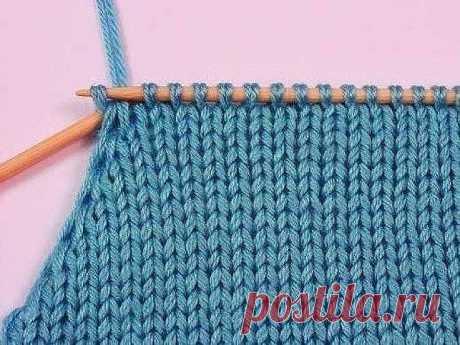 Интересный способ для вязания горловины