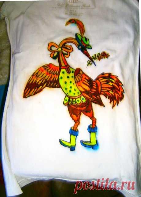 Как закрепить на одежде роспись, сделанную фломастерами, перманентными маркерами 🚩 перманентные маркеры для ткани 🚩 Одежда
