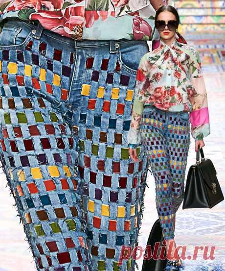 Бархатная лента - идея переделки джинсов. Модная одежда и дизайн интерьера своими руками