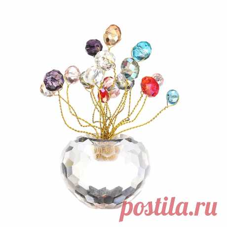 10cm 3D Crystal Apple Model Glass Craft Table Top Home Ornaments Decoration - US$9.99