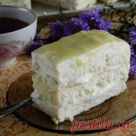 Лимонное пирожное. Палочка — выручалочка, если гости на подходе. Готовится проще простого