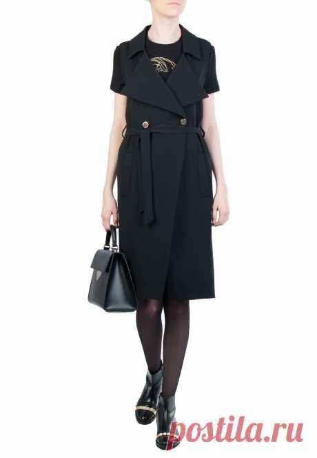Черное Платье VERSACE COLLECTION - купить по цене 42900 рублей - Elyts.ru