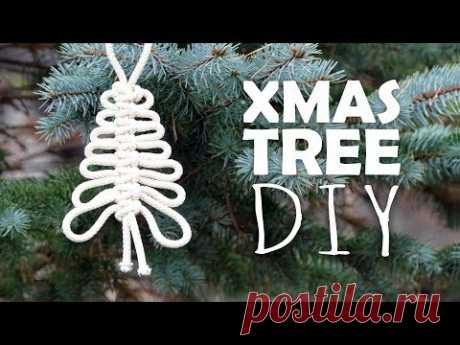 Knotted Xmas Tree Easy Tutorial by Macrame School 🎄 - YouTube