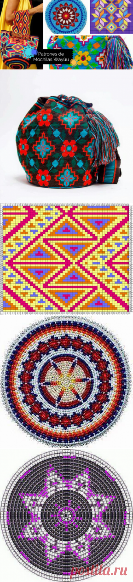 Galería y Patrones: Bases y Cuerpos de Mochilas Wayuu ~ CTejidas [Crochet y Dos Agujas]