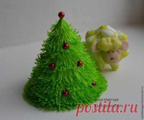Мастер-класс по созданию новогодней елочки из фоамирана #поделки@rukodelz