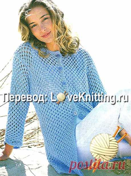 жакет узорчатый   Loveknitting.ru