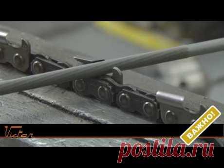 Заточка цепи бензопилы народными способами. How to sharpen a chainsaw. Myths.