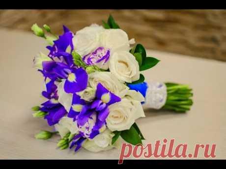 Как собрать красивый свадебный букет для невесты своими руками. Мастер класс по флористике.