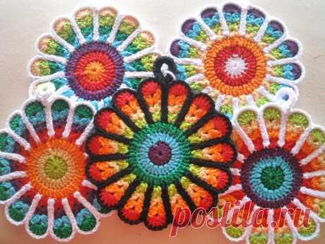 Красивое вязание   Подставка под горячее (салфетка)