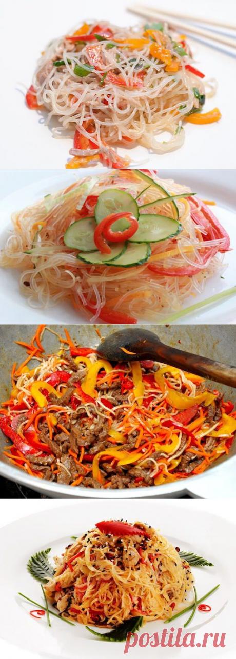 Восточная еда – полезно и оригинально! Фунчоза — вкусные салаты