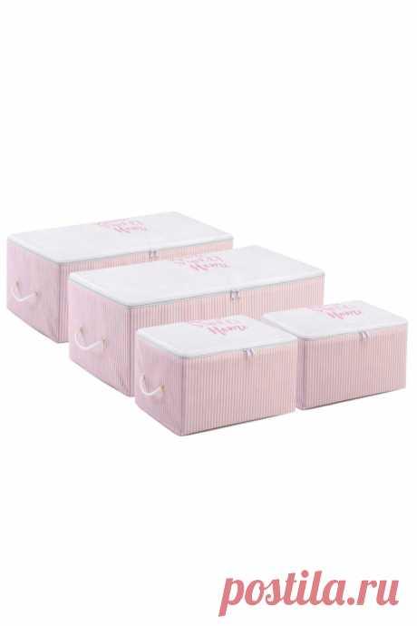 1063.57руб. 55% СКИДКА|4 шт., складная сумка для хранения с принтом в розовую полоску|Складные корзины для белья|   | АлиЭкспресс Покупай умнее, живи веселее! Aliexpress.com