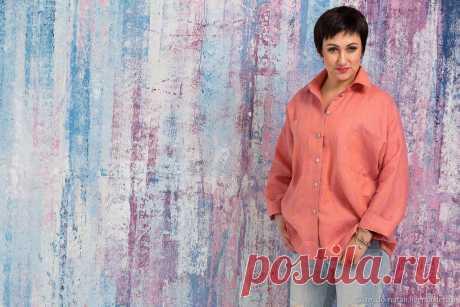 Льняная рубашка в мужском стиле оверсайз кораллвый меланж – купить в интернет-магазине на Ярмарке Мастеров с доставкой Льняная рубашка в мужском стиле оверсайз кораллвый меланж - купить или заказать в интернет-магазине на Ярмарке Мастеров | Рубашка из льна сложного меланжевого цвета,…