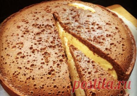 Рецепт : Пышная шоколадная ватрушка | Едим вместе | Яндекс Дзен