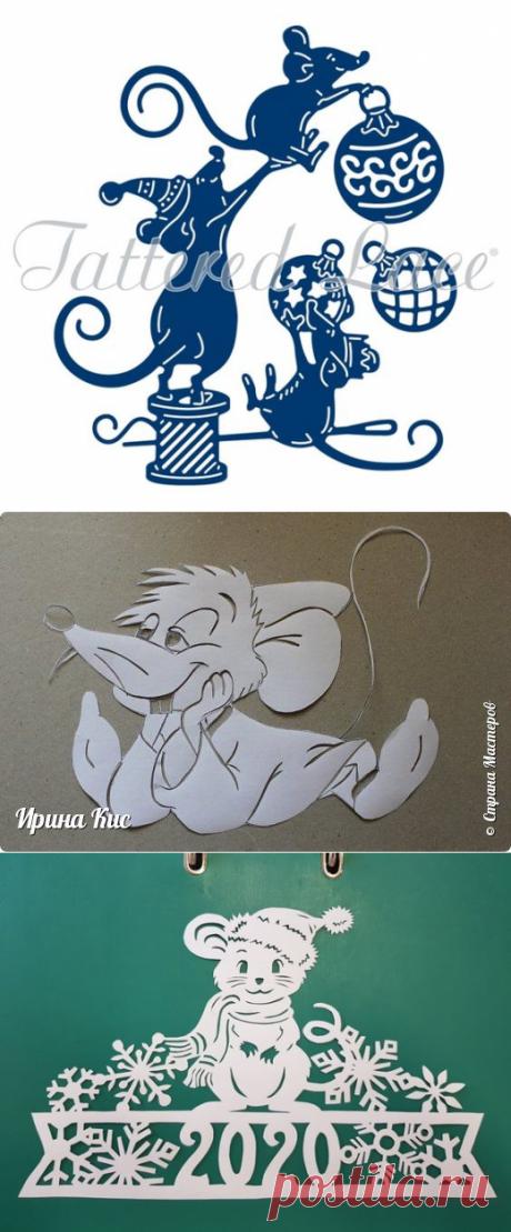 Подборка шаблонов с мышами к новому году — DIYIdeas
