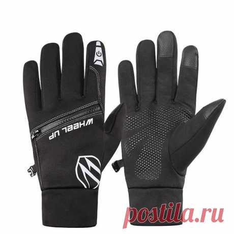 Wheel up bike gloves full finger touchscreen winter add velvet warm waterproof gloves for motorcycle mtb road bike cycling Sale - Banggood.com