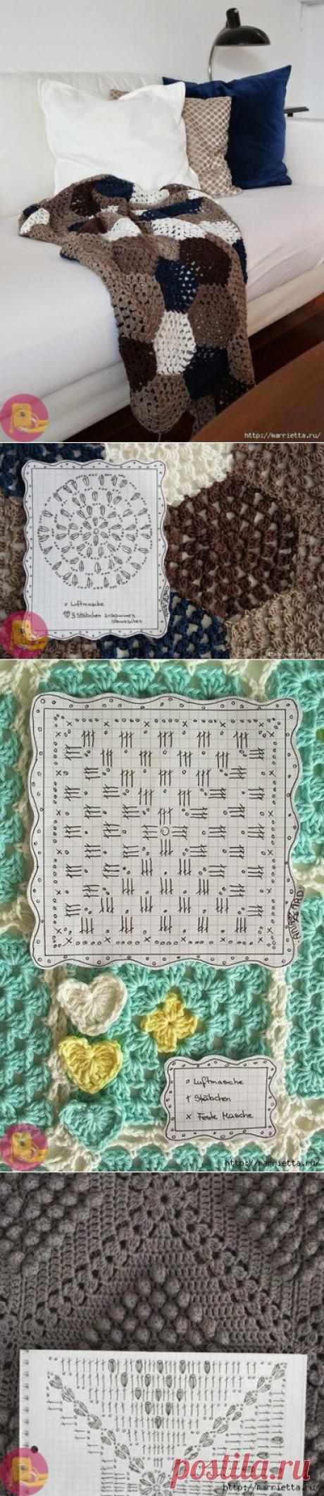 Пледы и подушки крючком: схемы — Сделай сам, идеи для творчества - DIY Ideas