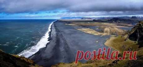 Сказочно красивый Черный пляж в Исландии