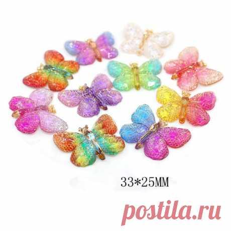 Кабошоны 33*25 мм 20 шт, 10 расцветок