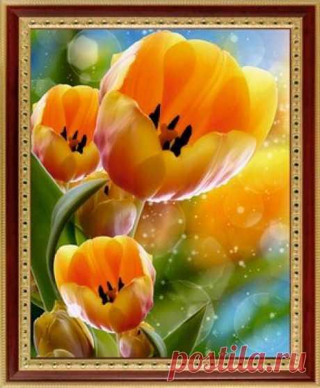Цветы - в картинах стразами от arhomework.rut