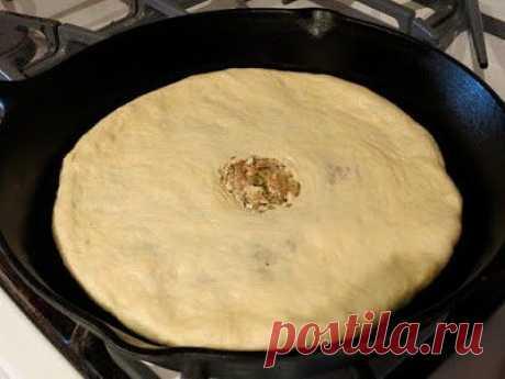 Осетинские пироги с мясом: мало теста начинка сочная и насыщенная