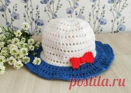 Легкая летняя шляпка для отдыха крючком » «Хомяк55» - всё о вязании спицами и крючком
