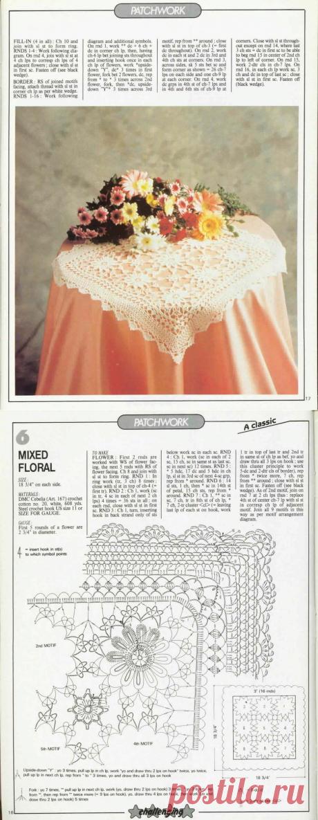 Необыкновенные скатерти, не поверите что связаны крючком, со схемами.   pro100stil   Яндекс Дзен