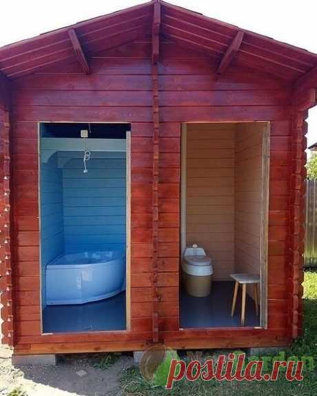 Торфяной санузел и ванная на дачном участке