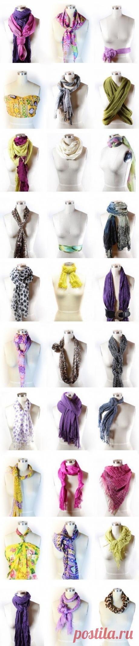 42 способа стильно завязать шарф — Полезные советы