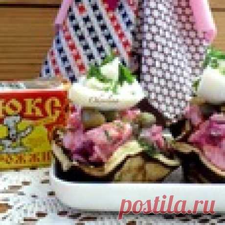 Блинные тарталетки с сельдью под шубой - кулинарный рецепт
