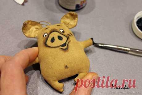 Шьём на ёлку кофейную свинку – Ярмарка Мастеров