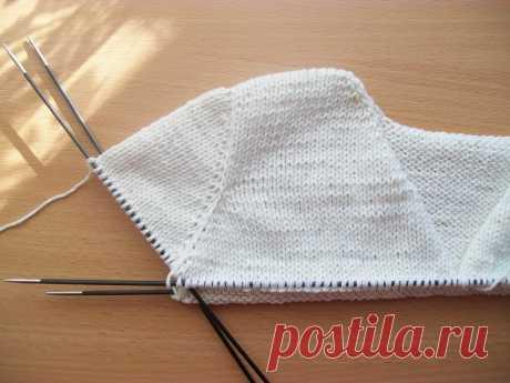 tru-knitting: la Imitación vtachnogo las mangas de arriba abajo. MK