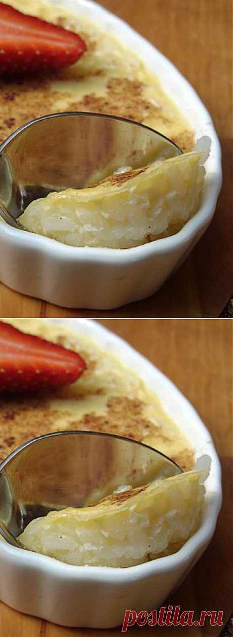 Рисовый пудинг с яблоками..