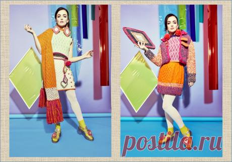 Кэти Джонс - яркое вязание в стиле бабушкиных квадратов от британского дизайнера   МНЕ ИНТЕРЕСНО   Яндекс Дзен