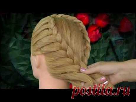 ▶ Смотреть как делать прическу из волос. Watch how to make hair from the hair - YouTube