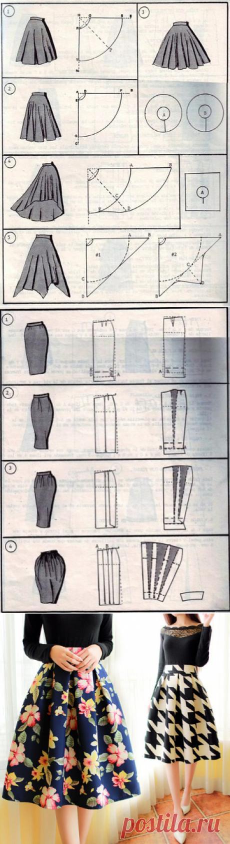 37 modos de coser la falda. Las ideas, el patrón.