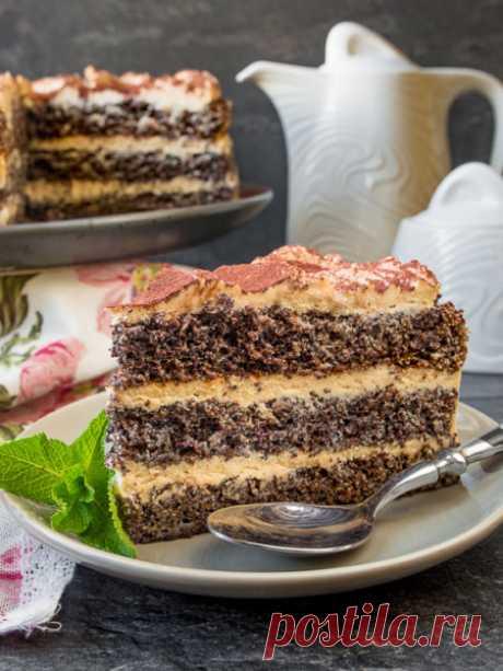 Рецепт макового торта с кофейным кремом на Вкусном Блоге