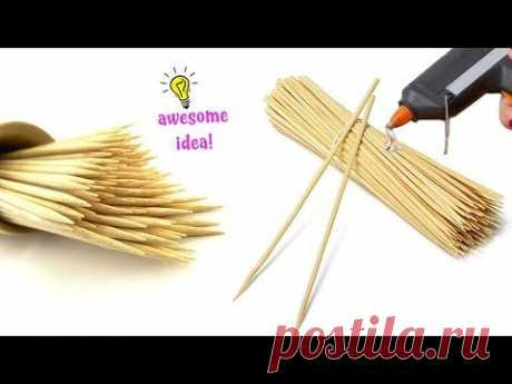 8 AWESOME WAYS TO MAKE WITH BAMBOO SKEWERS STICKS! Best Reuse Ideas